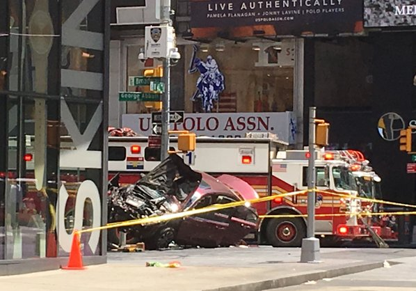 One Dead, Multiple Injured After Car Plows Into Pedestrians in Times Square