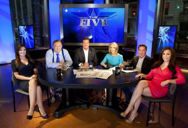 this-july-1-2013-file-photo-shows-kimberly-guilfoyle-from-left-bob-beckel-eric-bolling-dana-perino-greg-gutfeld-and-andrea-tantaros-co-hosts-of-fox-news-channels-the-five-after-a-taping-of-the-show-in-new-york