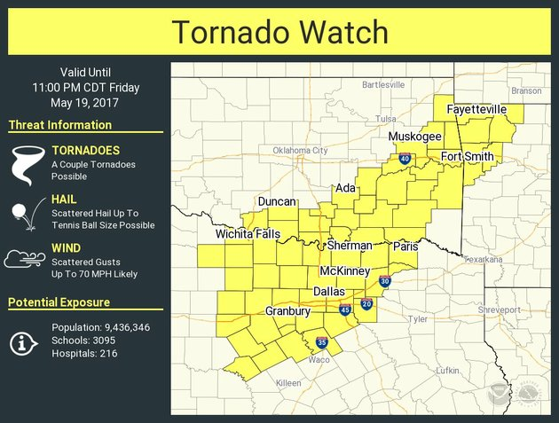 a-tornado-watch-is-in-effect-until-11-pm-friday-for-portions-of-northwest-arkansas-according-to-the-national-weather-service-in-tulsa