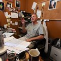 T.L. Nelms, owner of the Restaurant on the Corner in Fayetteville, sits in his office Wednesday. On ...