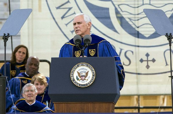 Mike Pence's Graduation Speech Was Interrupted by Students Walking Out