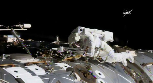 Spacewalking astronauts tackle urgent station repairs
