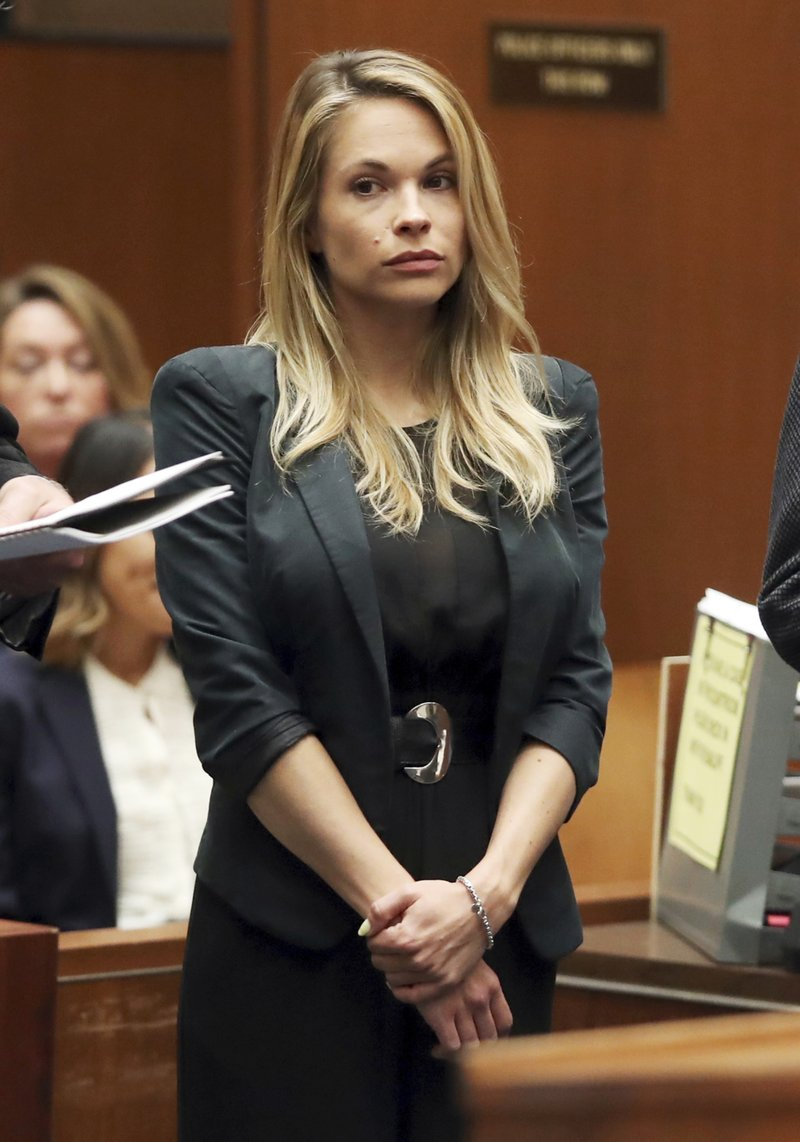 Model and Playboy bunny Dani Mathers appears in Los Angeles County Superior  Court to answer charges related to her taking a photo of a naked  71-year-old ...