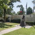 NWA Democrat-Gazette/ANTHONY REYES  The Italian Immigrant statue and front entrance to the Tontitow...