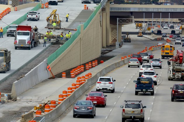 file-construction-crews-work-on-the-big-rock-interchange-in-west-little-rock-in-this-2015-file-photo