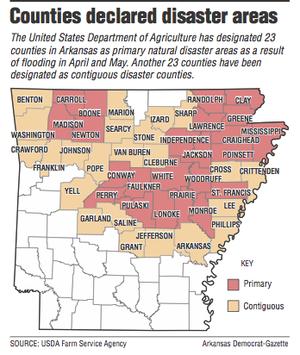 Arkansas Counties Get USDAs Disaster Tag - Counties in arkansas map