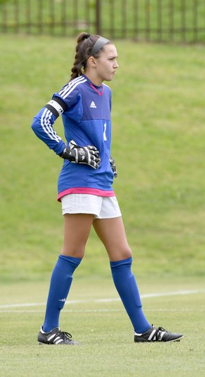 Bud Sullins/Special to Siloam Sunday Siloam Springs senior goalkeeper Anna Claire Lewis was selected to play for the West girls in the Arkansas High School Coaches Association All-Star girls soccer game on June 21 at Estes Stadium on the campus of the University of Central Arkansas in Conway.