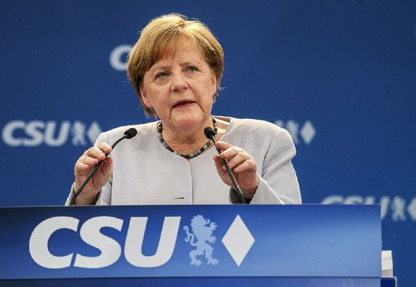 While campaigning, Merkel says Europeans can't 'completely' rely on US, others