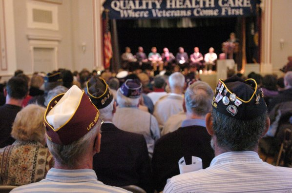 Veterans Day at a ceremony in the Veterans Hospital in Fayetteville