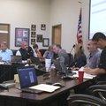 NWA Democrat-Gazette/DAVE PEROZEK The Bentonville School Board meets on June 5, 2017.