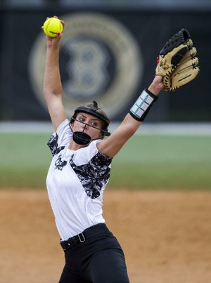Bentonville pitcher Maddy Prough threw four perfect games in 2017, including one against Rogers in which she struck out 19 batters. During the season, she struck out 233 while walking 23 for the Class 7A champions.