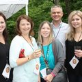 Colleen Hendren (from left), Tracey Hodge, Lisa Heilman, Ross Carver and Kim McKay enjoy Gardens on ...