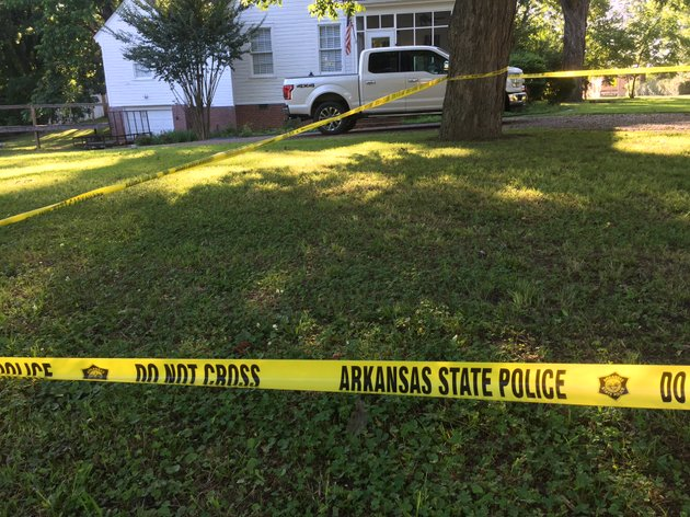 arkansas-state-police-crime-scene-tape-blocks-off-a-yard-near-remmel-park-in-newport-tuesday-morning