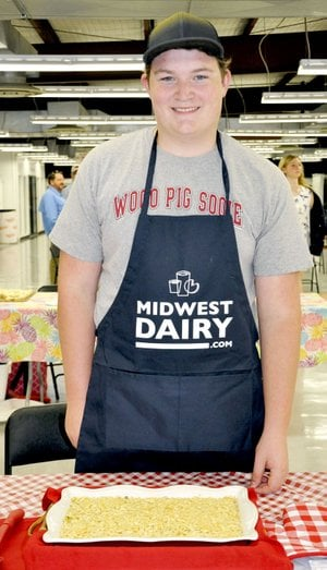 Photo submitted Luke Baker, 15, of Siloam Springs took first place in the Main Dish competition at the 60th annual Arkansas Dairy Foods Contest, held May 31 at the state fairgrounds in Little Rock.