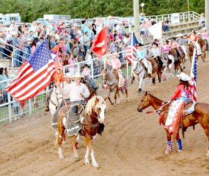 Janelle Jessen/Herald-Leader The 59th annual Siloam Springs Rodeo will begin each night with the Kiddie Grand Entry at 7:45 p.m., followed by the Grand Entry.