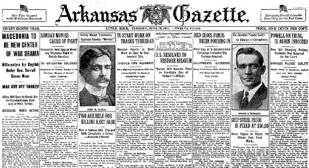 excerpt-of-page-one-of-the-june-19-1917-arkansas-gazette