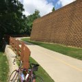 A hill at The Great Wall of Lowell on the Razorback Greenway rates high on the wheezer scale, unless...