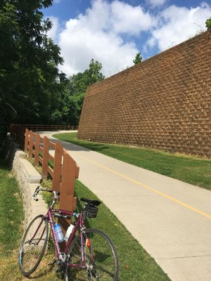 A hill at The Great Wall of Lowell on the Razorback Greenway rates high on the wheezer scale, unless the rider is going downhill.