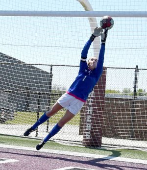 Bud Sullins/Special to the Herald-Leader Siloam Springs senior goalkeeper Anna Claire Lewis will represent the four-time Class 6A state champion Lady Panthers in the Arkansas High School Coaches Association All-Star Girls Soccer Game at 5 p.m. Wednesday at Estes Stadium on the campus of the University of Central Arkansas in Conway.