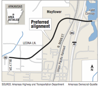 a-map-showing-the-preferred-alignment-for-mayflower-railroad-overpass