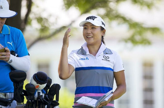 Ryu seizes lead after sparkling 61 in Arkansas