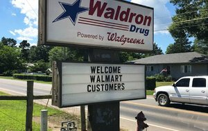 At Waldron Drug, employees have added space and chairs to serve the departing Wal-Mart's customers.