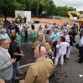 A crowd gathers Friday during a groundbreaking for TheatreSquared's new facility at 477 W. Spring St...