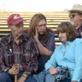 Frank Fitch (from left) sits Friday with his daughter-in-law Betty Fitch, son Nevada Fitch (Betty's ...
