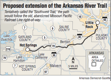 Decision Reversed For Mile Trail Between Little Rock Hot - Little rock on us map