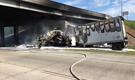 PHOTOS: Driver killed in fiery truck wreck identified; part of Arkansas interstate remains shut