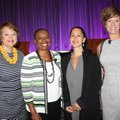 Lori Brown (from left), Tracey Brown, Liza Landsman and Sarah Semrow gather at Women's Day at the LP...