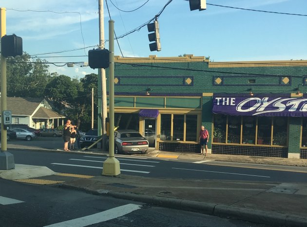 at-least-one-person-was-said-to-be-injured-tuesday-evening-after-a-car-crashed-into-the-building-that-houses-the-oyster-bar-in-little-rocks-stifft-station-neighborhood-photo-by-tim-schulte