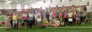 Photo submitted More than 90 girls from Arkansas, including some from Siloam Springs, along with Oklahoma, Missouri and Kansas came to Gentry to participate in a two-day fundraiser camp June 22-23 for a member of the softball community who recently suffered a medical setback. More than $2,500 was raised and all proceeds went directly to helping the family. Businesses involved were Pioneer Pizza providing lunch, Harps donating bottled water, McKee Foods donating snacks, Gentry Conversion Charter Schools providing maintenance, transportation, lunch, facilities and equipment, Sno Paradise provided a cold treat and Joni Wilson provided T-shirts. Camp instructors included: Ayla Smartt, Lance Nations, Beau Collins, Justin Ledbetter, Shawn Haag, Clay Stewart, Paul Ernest, Kyle Jordan, Joe Still, Brooke Boston, Makensie Sweeten, Lali Estrada, April Harris and Taylor Hull. Player assistants were Alyssa Kelton, Billi Taylor, Lynzey Sikes, Allee Sweeten and Raegan Jude. Administrative assistants were Jennifer Ernest, Tonya Sweeten, Shelly Sikes, Leonna Taylor, Stacy Nations, and Gentry athletic director Brae Harper and Dean of students Brian Little.