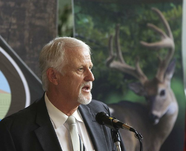 arkansas-game-and-fish-commissioner-stan-jones-of-walnut-ridge-speaks-tuesday-in-little-rock-shortly-after-his-appointment-to-the-commission-was-announced-by-gov-asa-hutchinson