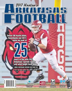 Image submitted Arkansas Razorbacks quarterback Austin Allen is on the cover of the 2017 Hooten's Arkansas Football magazine. The Siloam Springs Panthers are ranked No. 14 in Class 6A by Hooten's to open the season and are picked to finish last in the 6A-West Conference.