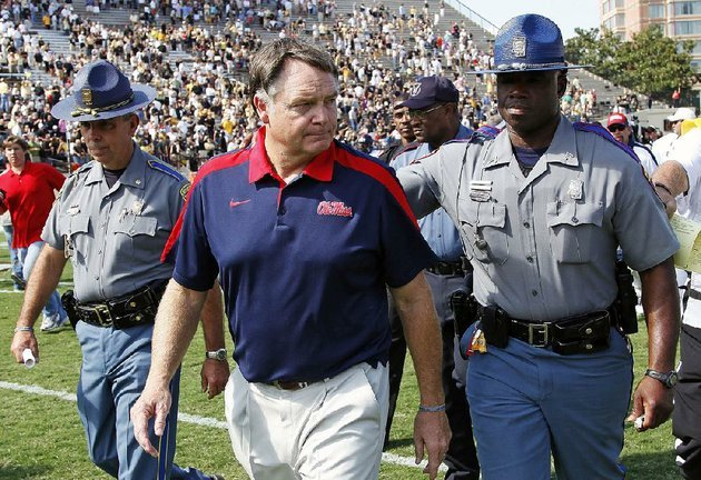 ex-arkansas-football-coach-houston-nutt-coached-at-the-university-of-mississippi-from-2008-2011-but-hes-now-suing-the-school-and-its-athletics-foundation-for-breach-of-his-severance-agreement-because-of-false-statements-he-said-school-officials-made-during-a-long-running-ncaa-investigation