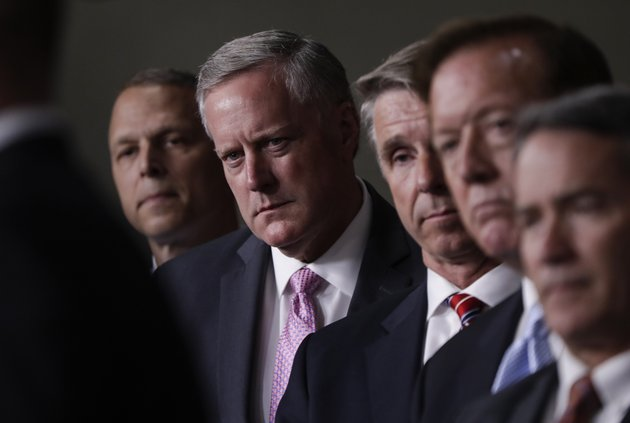 house-freedom-caucus-chairman-rep-mark-meadows-r-nc-second-from-left-and-others-participates-in-a-news-conference-on-capitol-hill-in-washington-wednesday-july-12-2017-to-say-that-his-group-wants-to-delay-the-traditional-august-recess-until-work-is-accomplished-on-health-care-the-debt-ceiling-and-tax-reform-ap-photoj-scott-applewhite