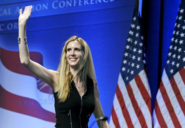 in-this-feb-12-2011-file-photo-ann-coulter-waves-to-the-audience-after-speaking-at-the-conservative-political-action-conference-cpac-in-washington