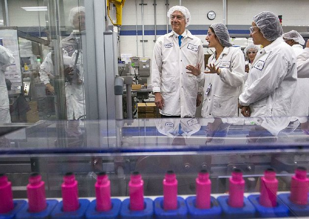 gov-asa-hutchinson-tours-the-loreal-maybelline-manufacturing-and-distribution-facility-in-north-little-rock-on-tuesday-before-declaring-arkansas-an-open-investment-state-that-welcomes-international-firms