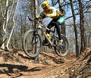 The Sentinel-Record/Corbet Deary CHALLENGING RIDE: Although this section of the Cedar Glades Park trail system can be navigated by novice and intermediate riders, there are also ample challenges to keep the experienced rider occupied and entertained, as well.