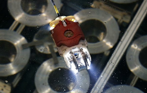 Robot finds likely melted fuel heap inside Fukushima reactor