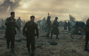 The evacuation of Dunkirk has been portrayed on film before — notably in a 5 ½ -minute tracking shot in Joe Wright's 2007 film Atonement.