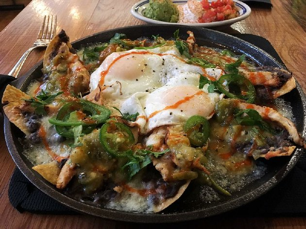 the-new-ark-mex-brunch-sundays-at-heights-taco-tamale-features-churros-waffles-delta-chicken-n-biscuit-breakfast-nachos-and-sunday-biscuits-gravy