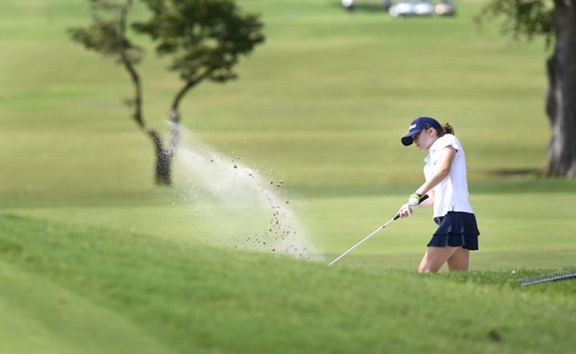 nwa-democrat-gazettespencer-tirey-greenwoods-ella-austin-chips-out-of-the-sand-on-hole-no-1-thursday-at-the-springdale-country-club