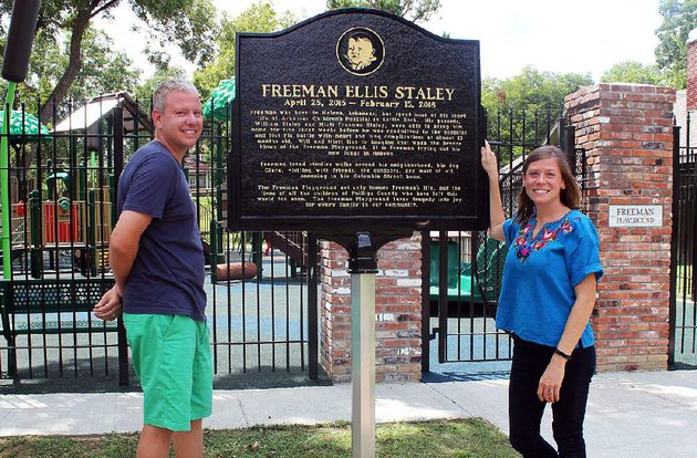 will-and-misti-staley-raised-250000-to-build-the-freeman-playground-in-helena-west-helena-in-memory-of-their-son-freeman-who-died-when-he-was-9-months-old