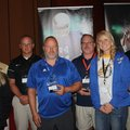Coaches Kristin Killham, Ramay Junior High (from left); Chip Durham, Bentonville West; Jody Grant, B...
