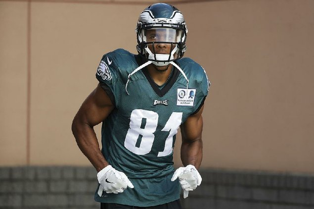 Philadelphia Eagles wide receiver Jordan Matthews during an NFL football training camp in Philadelphia Wednesday Aug. 2 2017