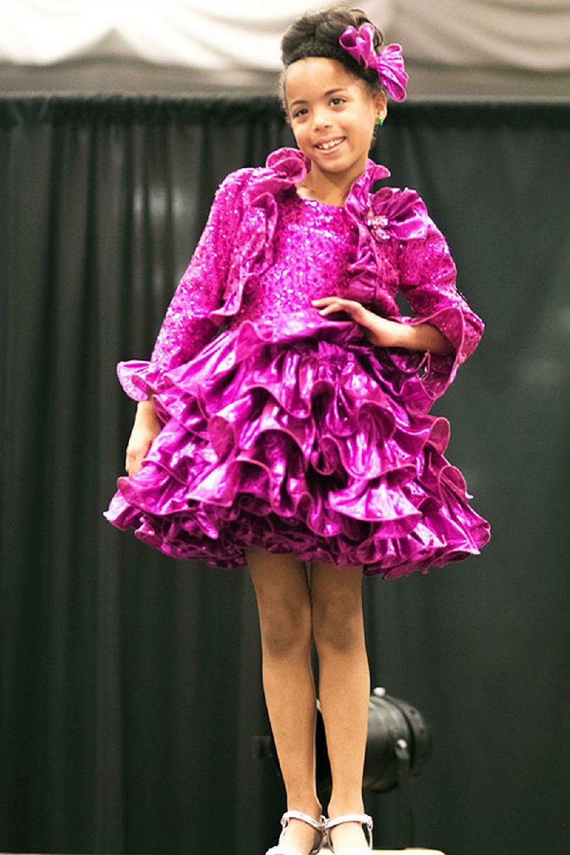 week young shows talent place gives conway ruffly glamorous ensemble arkansas season during experience sept event take