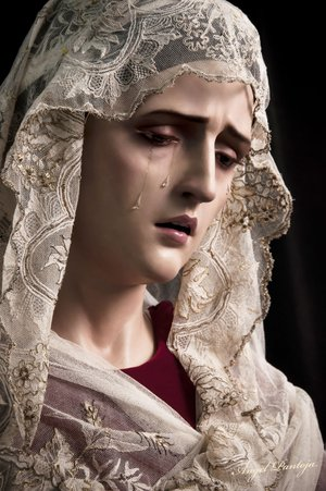 This sculpture of the Virgin Mary is an example of the work of Angel Pantoja of El Puerto de Santa Maria in the Andalucian area of Spain. Pantoja was commissioned to create three works — St. Joseph, Mary and an infant Jesus — for St. Mary Catholic Church in Siloam Springs. The art will be unveiled and blessed during a Mass on Tuesday.