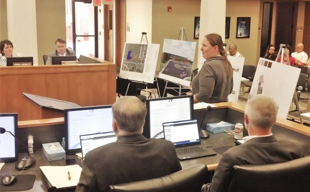 nwa-democrat-gazettedave-perozek-michelle-mcclaflin-a-vice-president-with-the-architectural-firm-hight-jackson-associates-presents-plans-tuesday-for-elementary-school-no-16-during-the-rogers-school-board-meeting